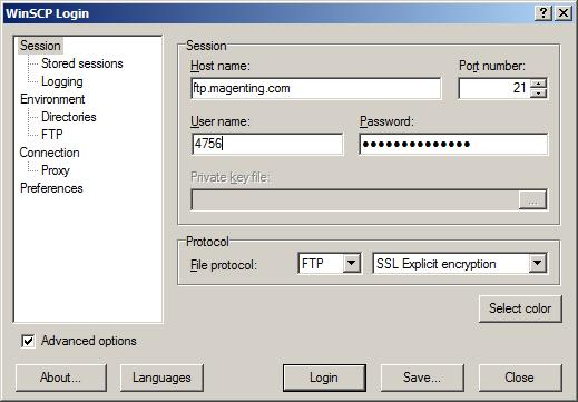 How to use WinSCP for FTP access: